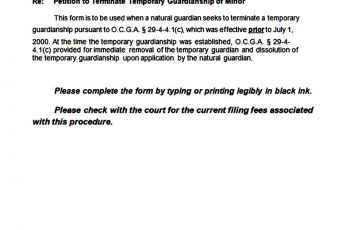 temporary guardianship form sample