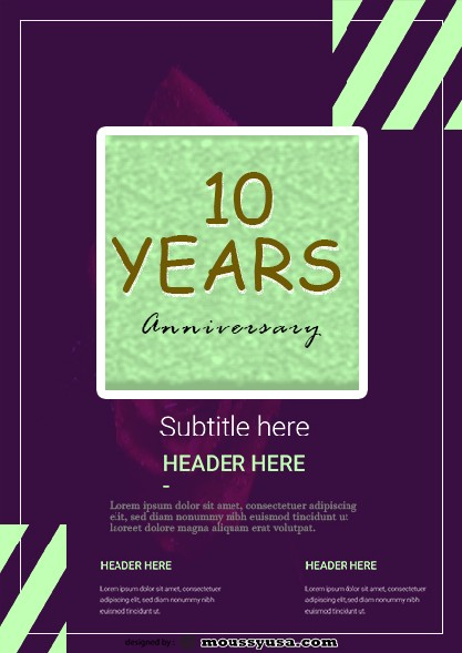 Anniversary Flyer template sample