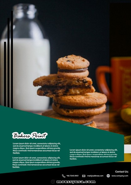 Bakers Point Flyer design psd