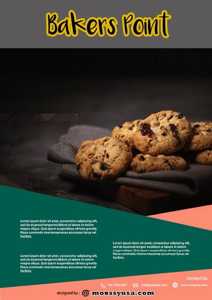 Bakers Point Flyer template example