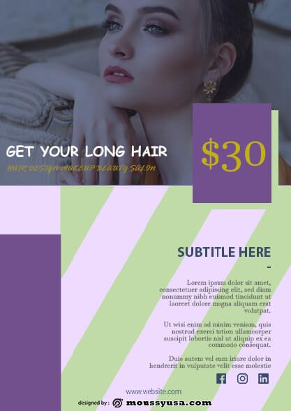 Beauty Parlor Flyer design ideas