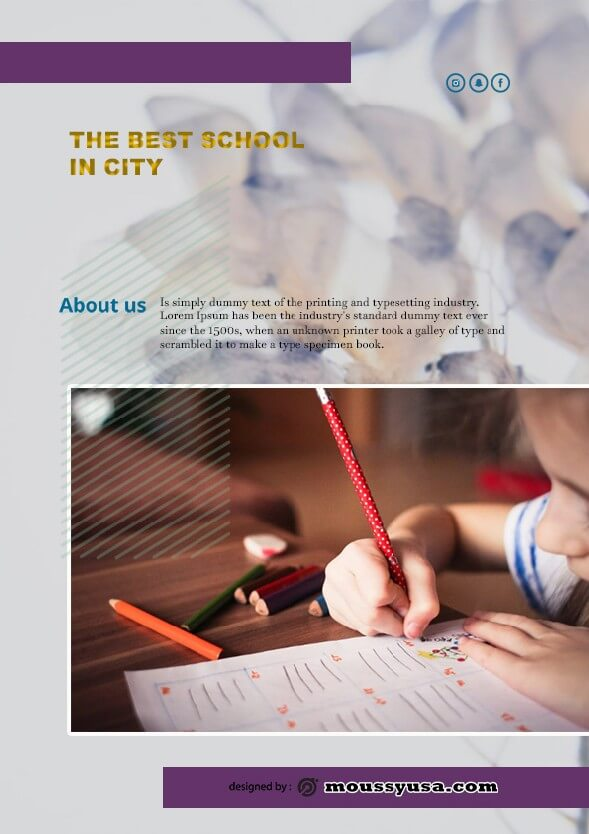 Free Education Flyer template design