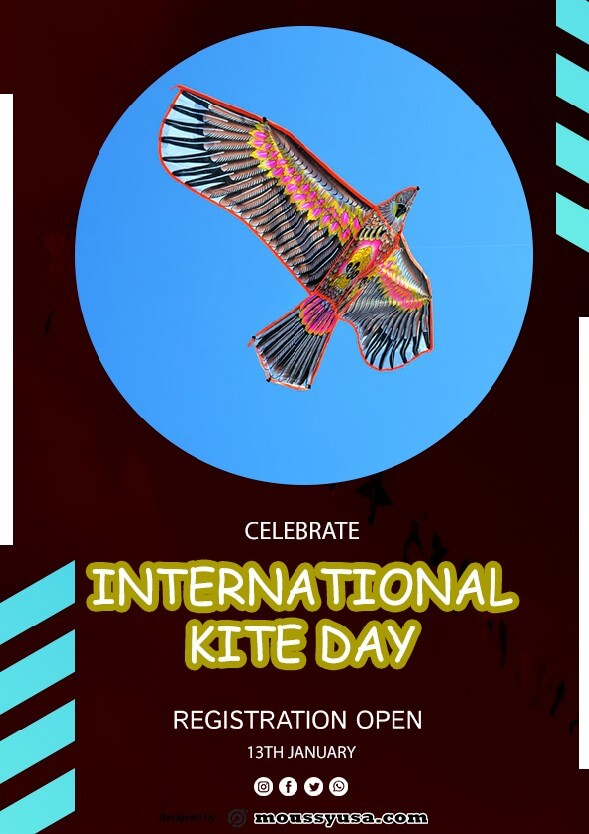 Free International Kites Day Flyer template ideas