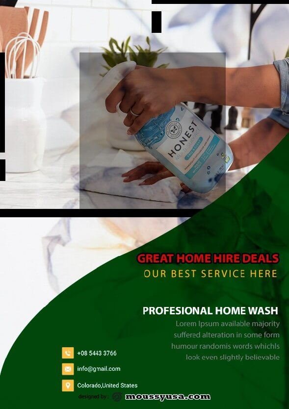 House Cleaning Services Flyer design psd