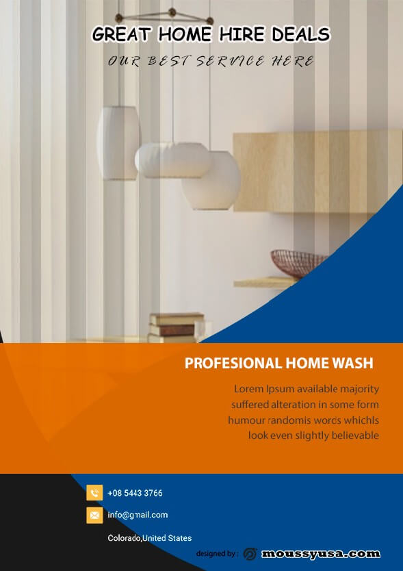 House Cleaning Services Flyer design template