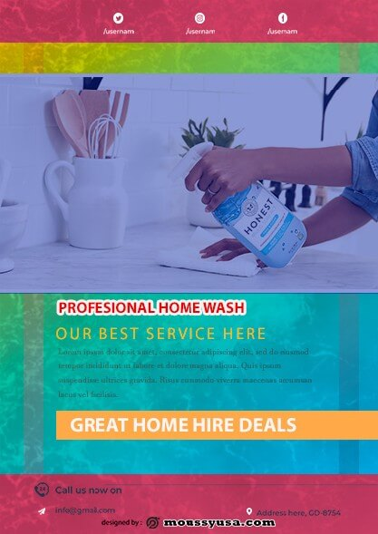 House Cleaning Services Flyer template design