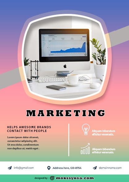 Marketing Flyer design psd
