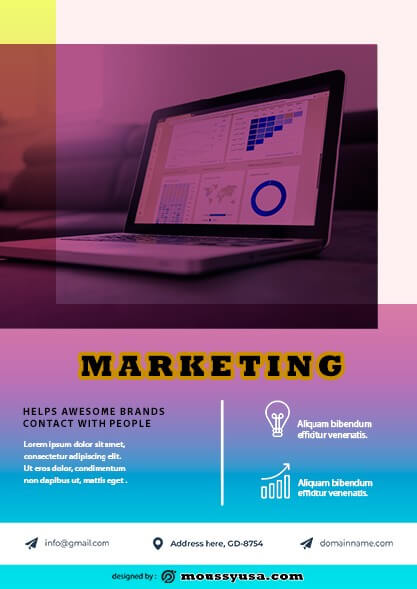 Marketing Flyer template example