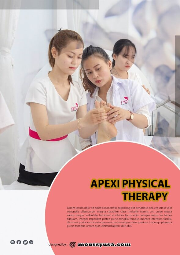 Physical Therapy Flyer design psd