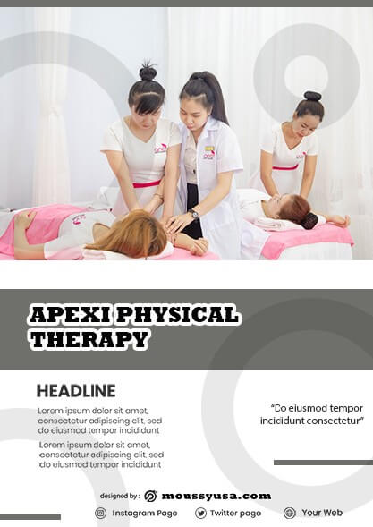 Physical Therapy Flyer template ideas