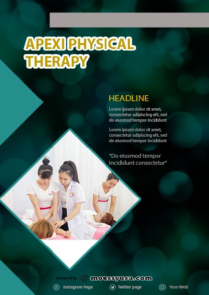 Physical Therapy Flyer template sample