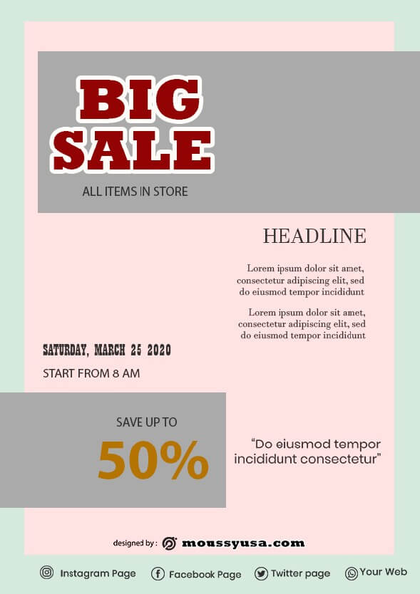 Sales Flyer design ideas
