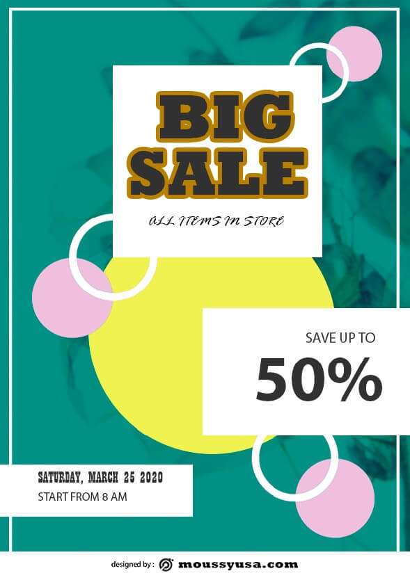 Sales Flyer template example