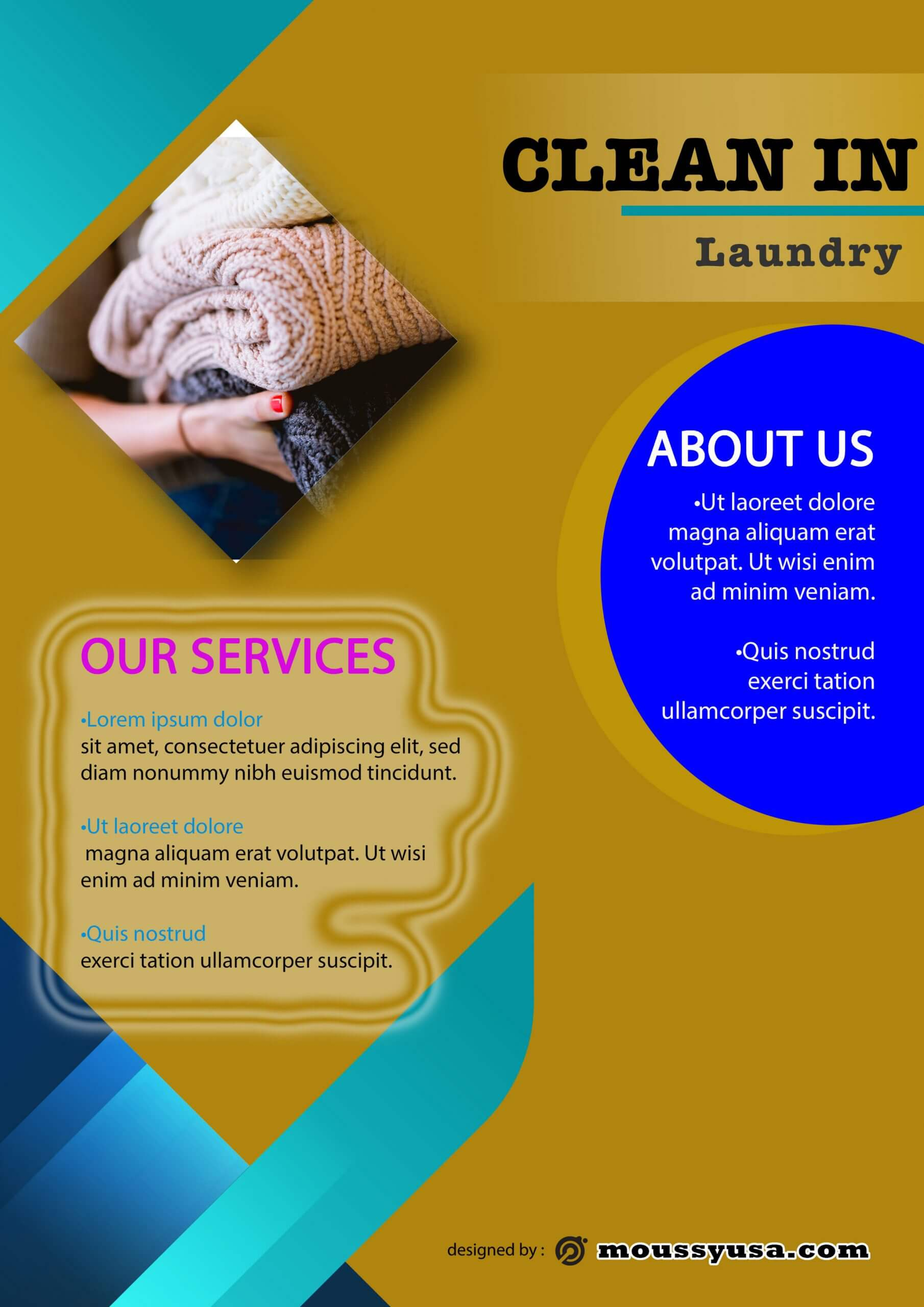 Sample laundry brochure