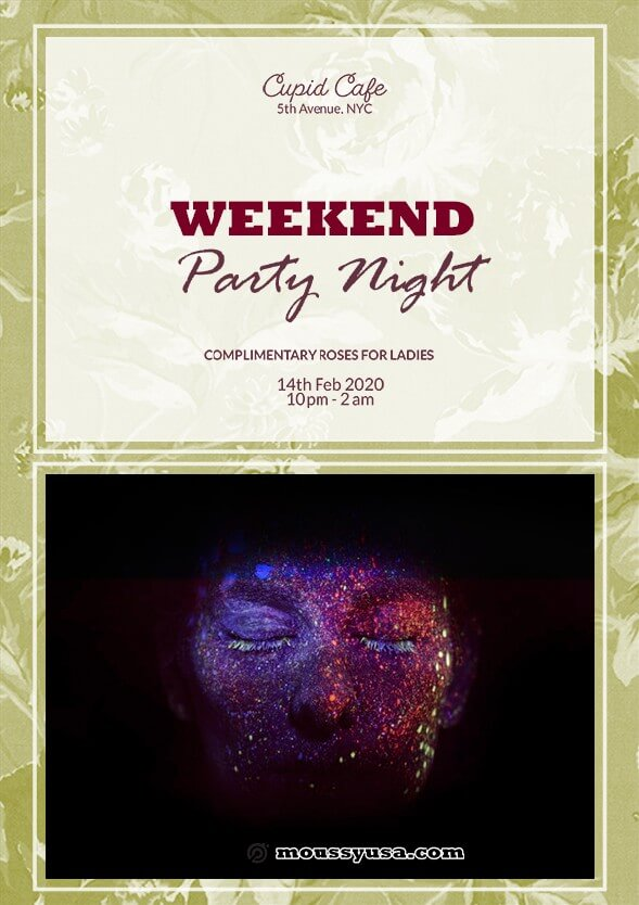 Weekend Night Party Flyer template design