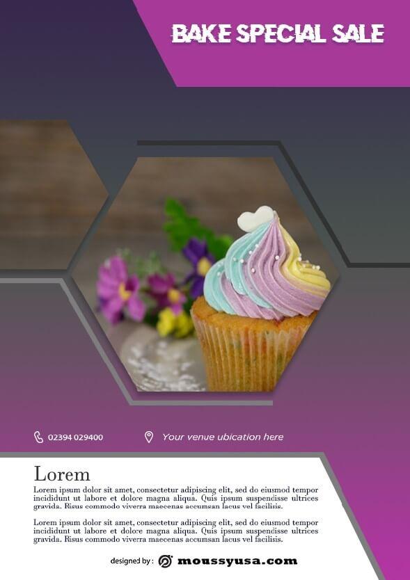 bake sale flyer template design