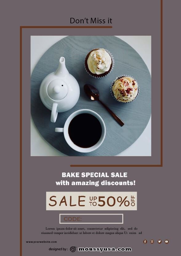 bake sale flyer template example