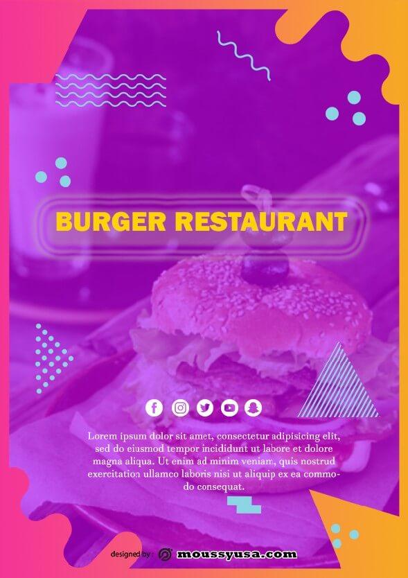 burger restaurant flyer design template