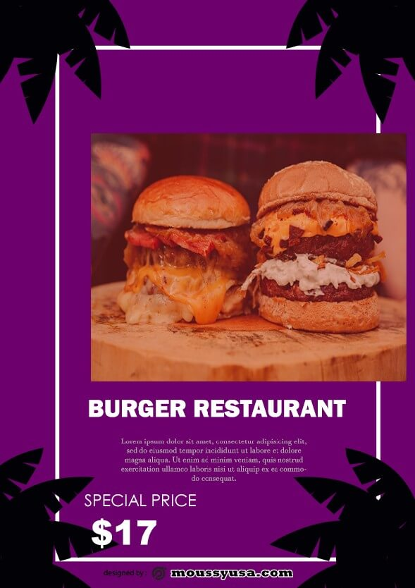 burger restaurant flyer template example