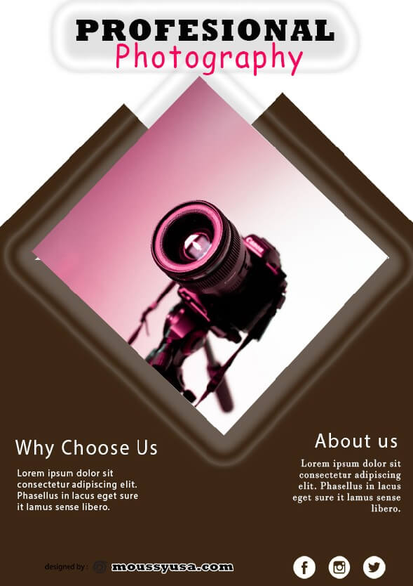 commercial photography flyer design psd
