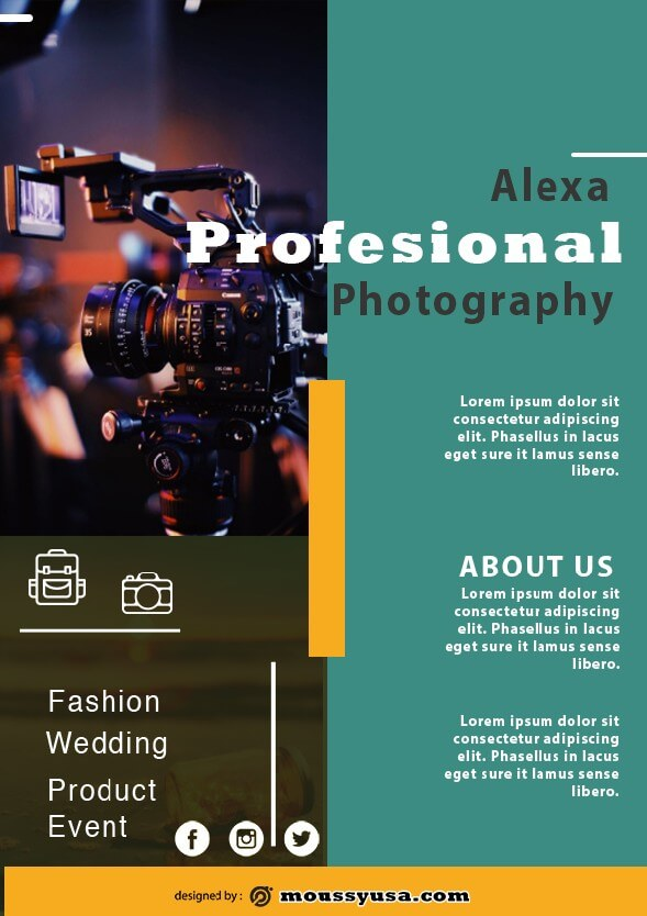 commercial photography flyer design template