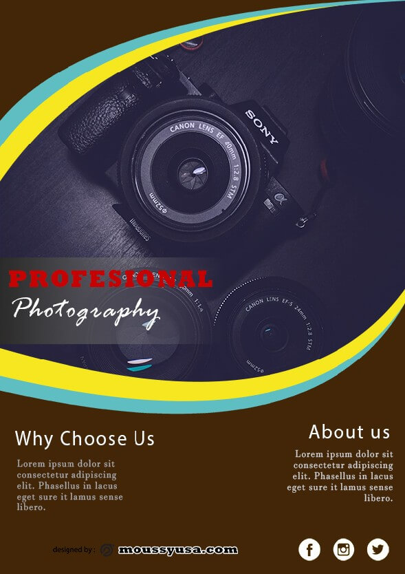 commercial photography flyer template design