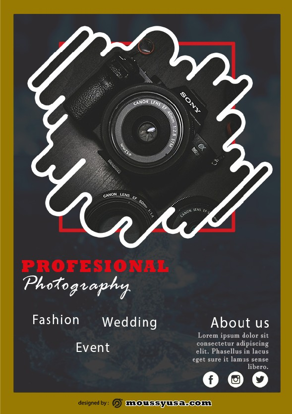 commercial photography flyer template example