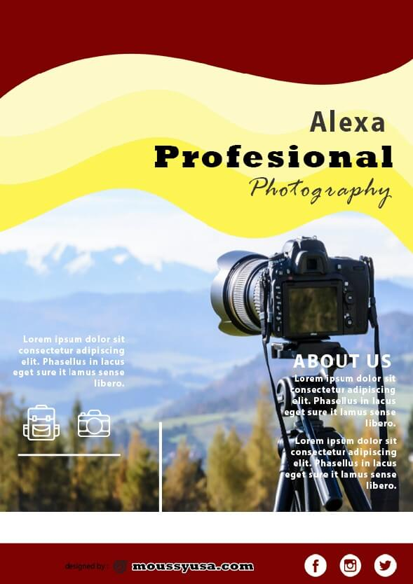 commercial photography flyer template ideas