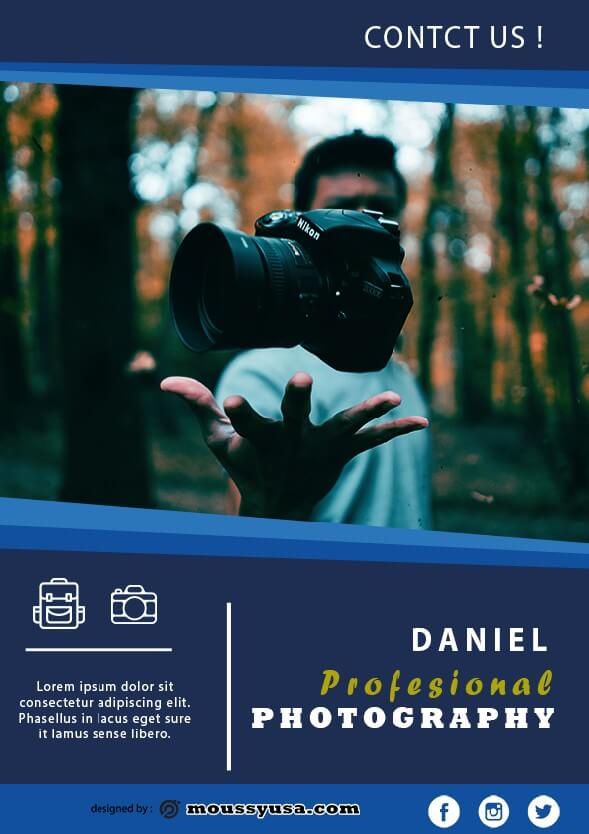 commercial photography flyer template sample