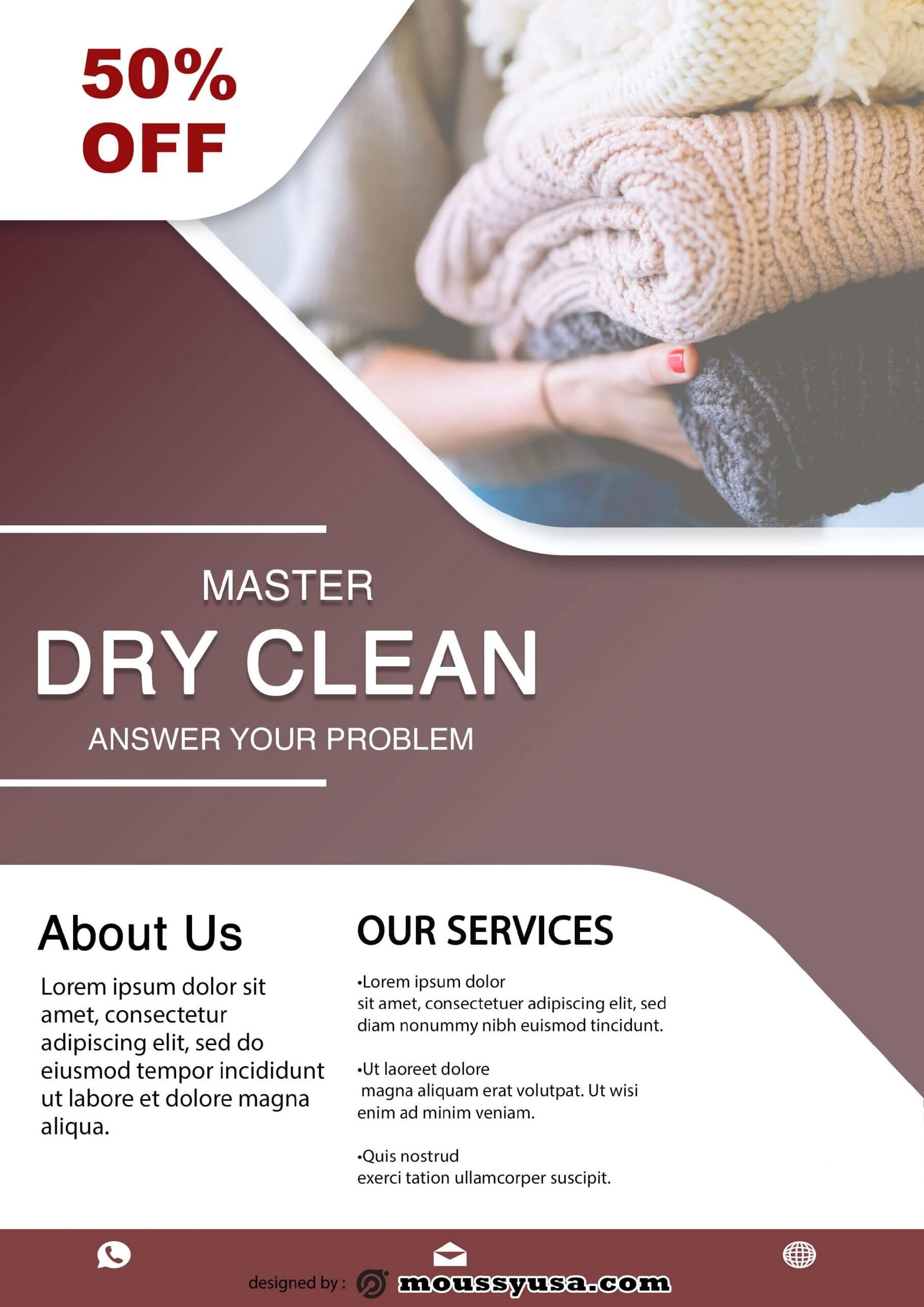 dry clean design psd