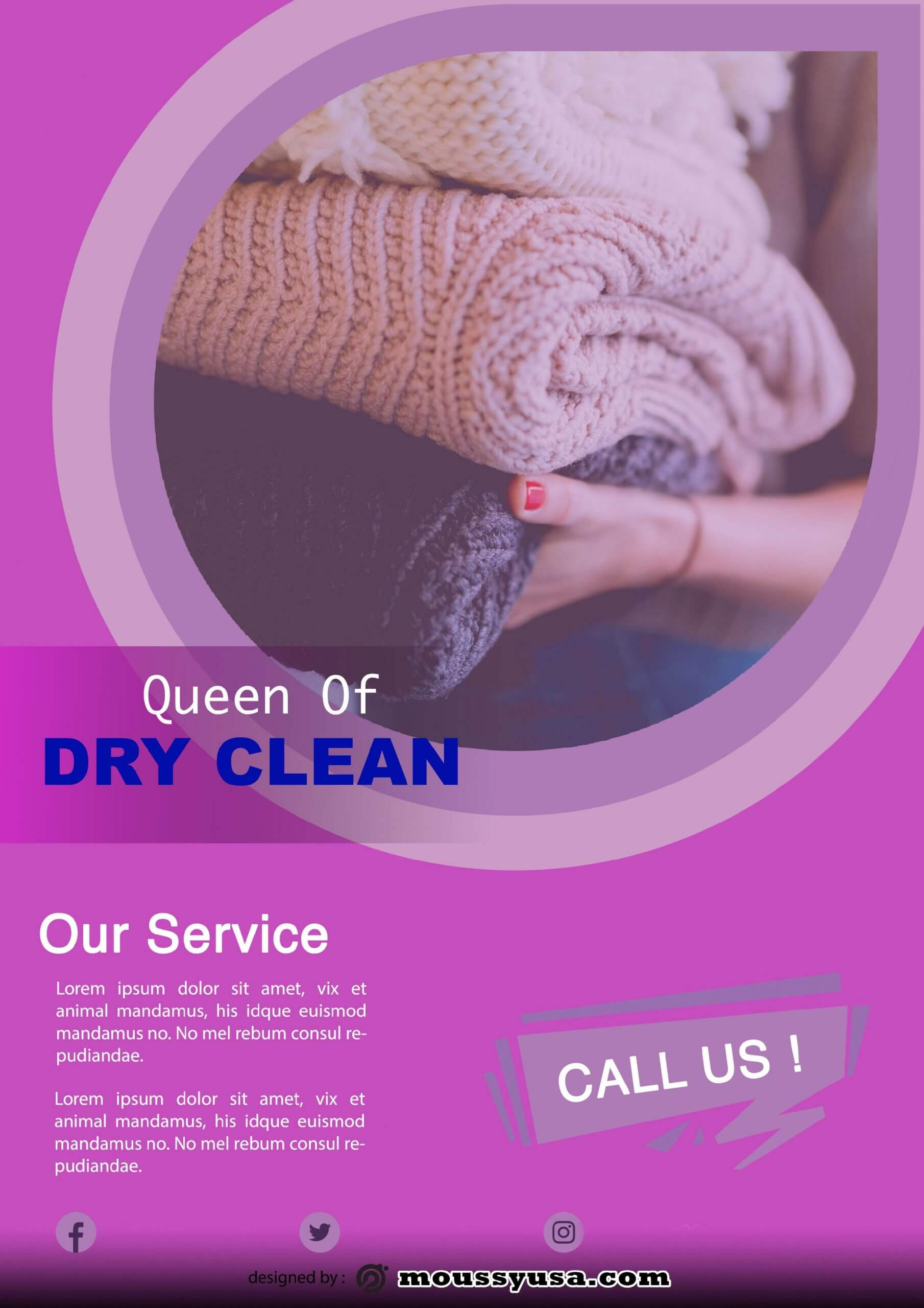 dry clean template example