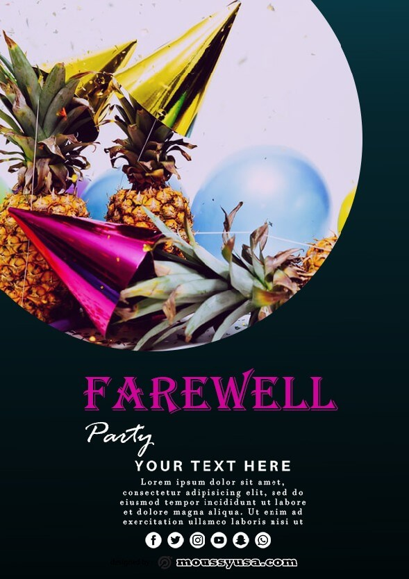 farewell party flyer design template