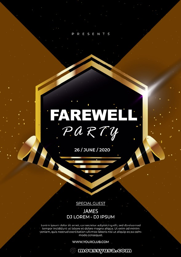 farewell party flyer template example
