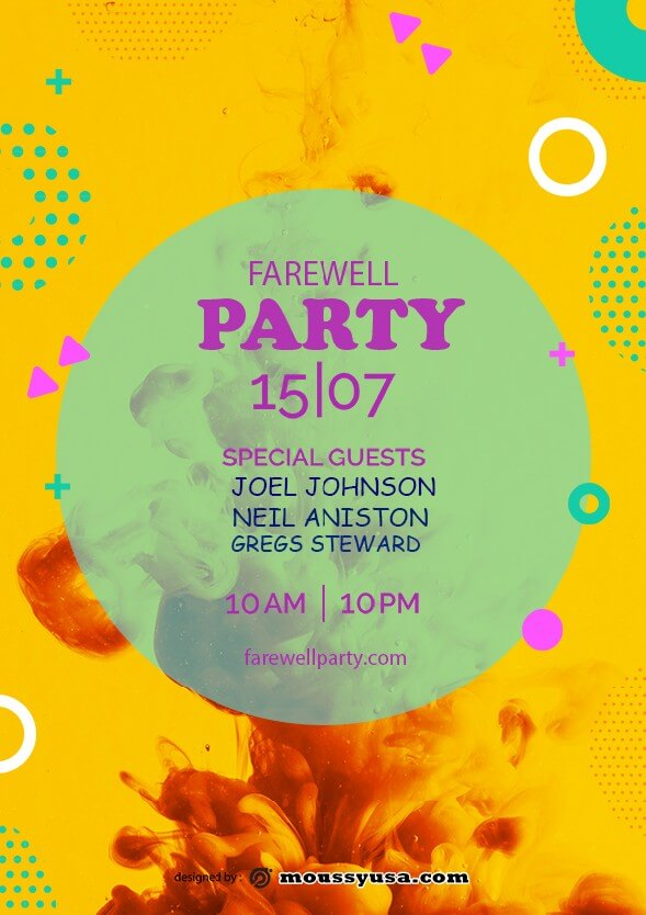 farewell party flyer template ideas