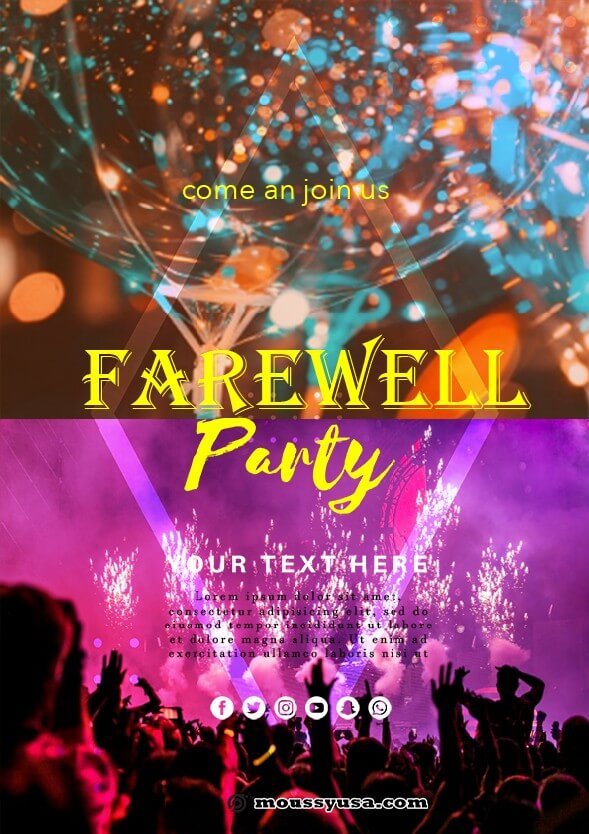 farewell party flyer template sample