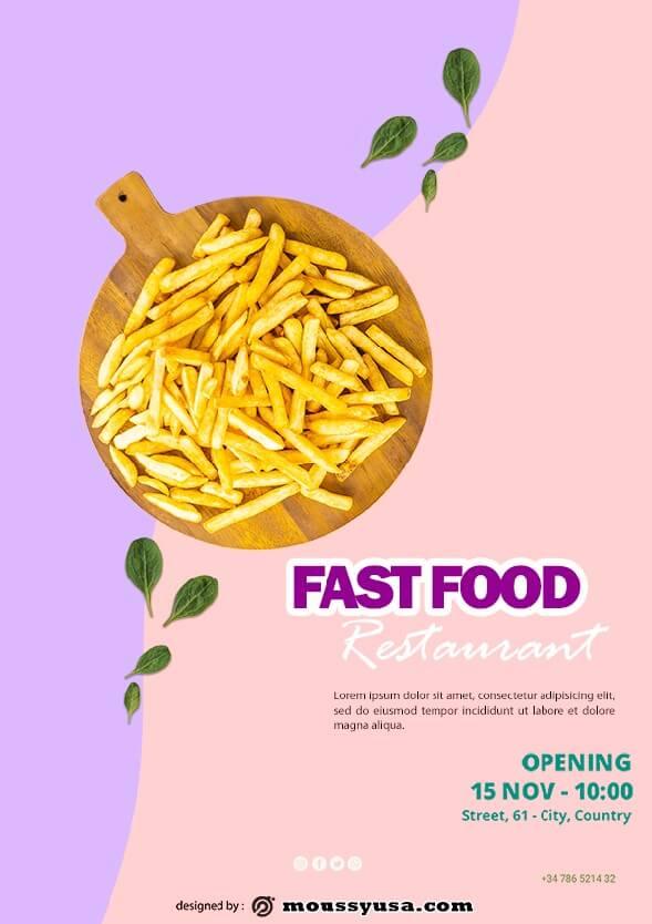 fast food restaurant flayer template ideas