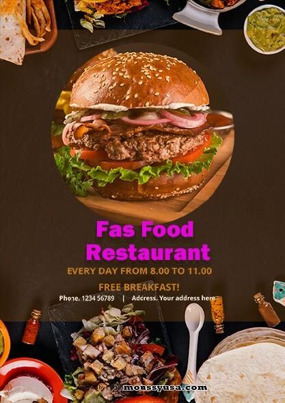 fast food restaurant flayer template sample