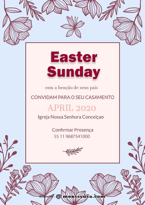 free easter sunday celebration flyer design template