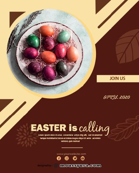 free easter sunday celebration flyer template example