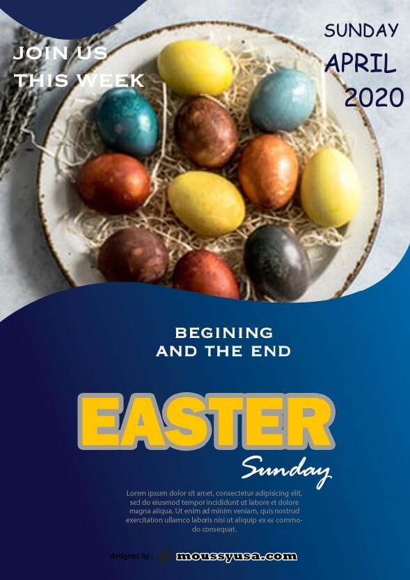 free easter sunday celebration flyer template ideas