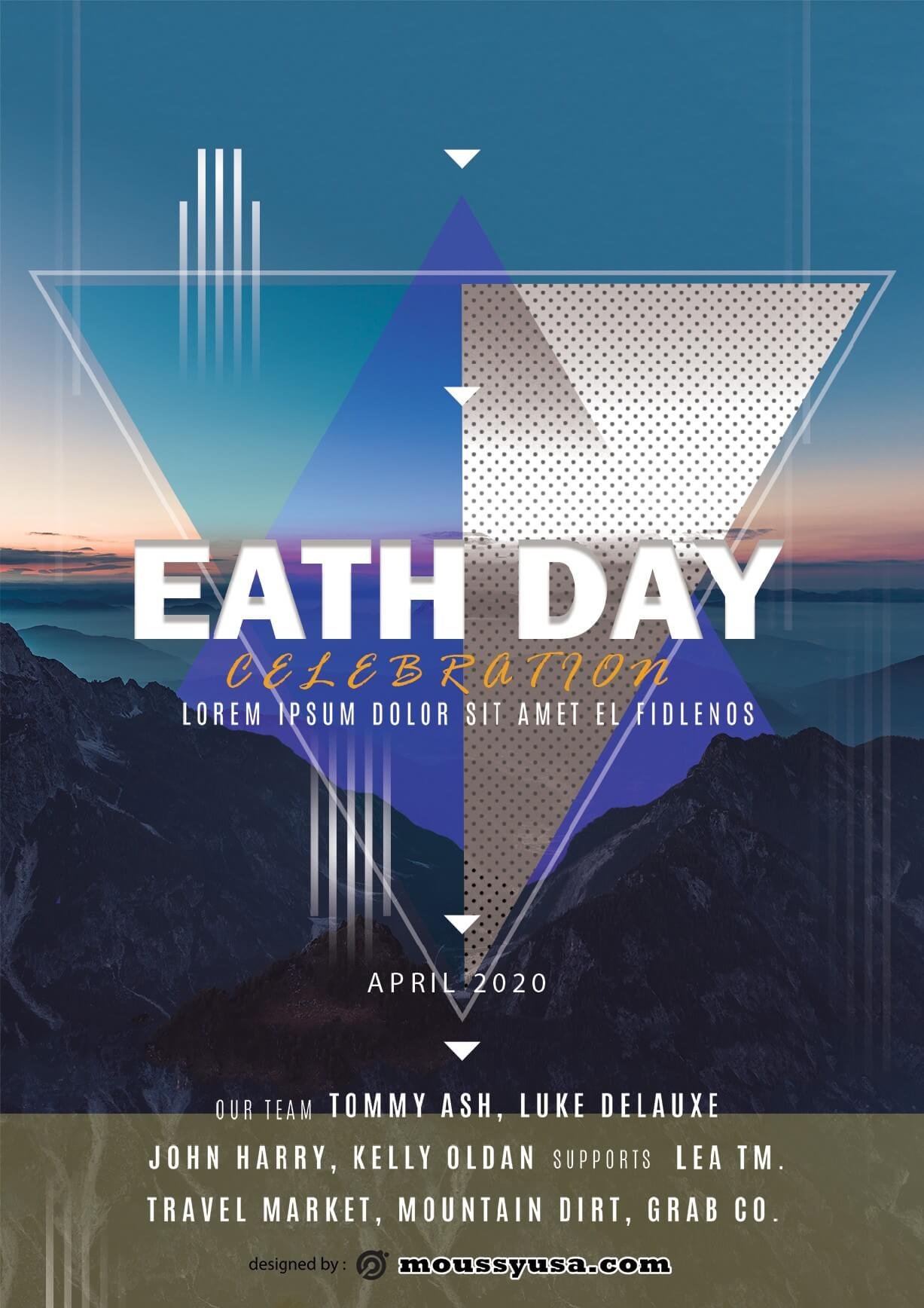 international earth day flayer design psd