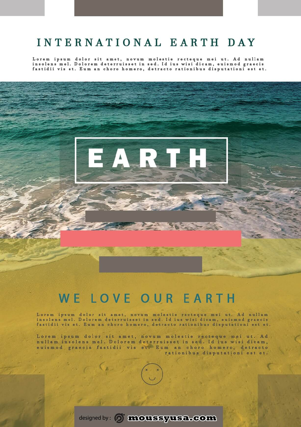 international earth day flayer design template
