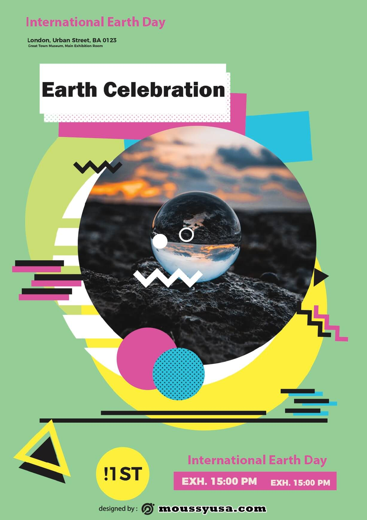 international earth day flayer template design