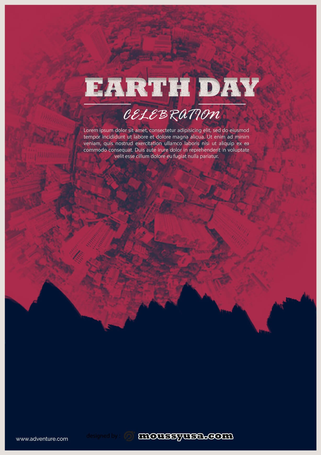 international earth day flayer template example