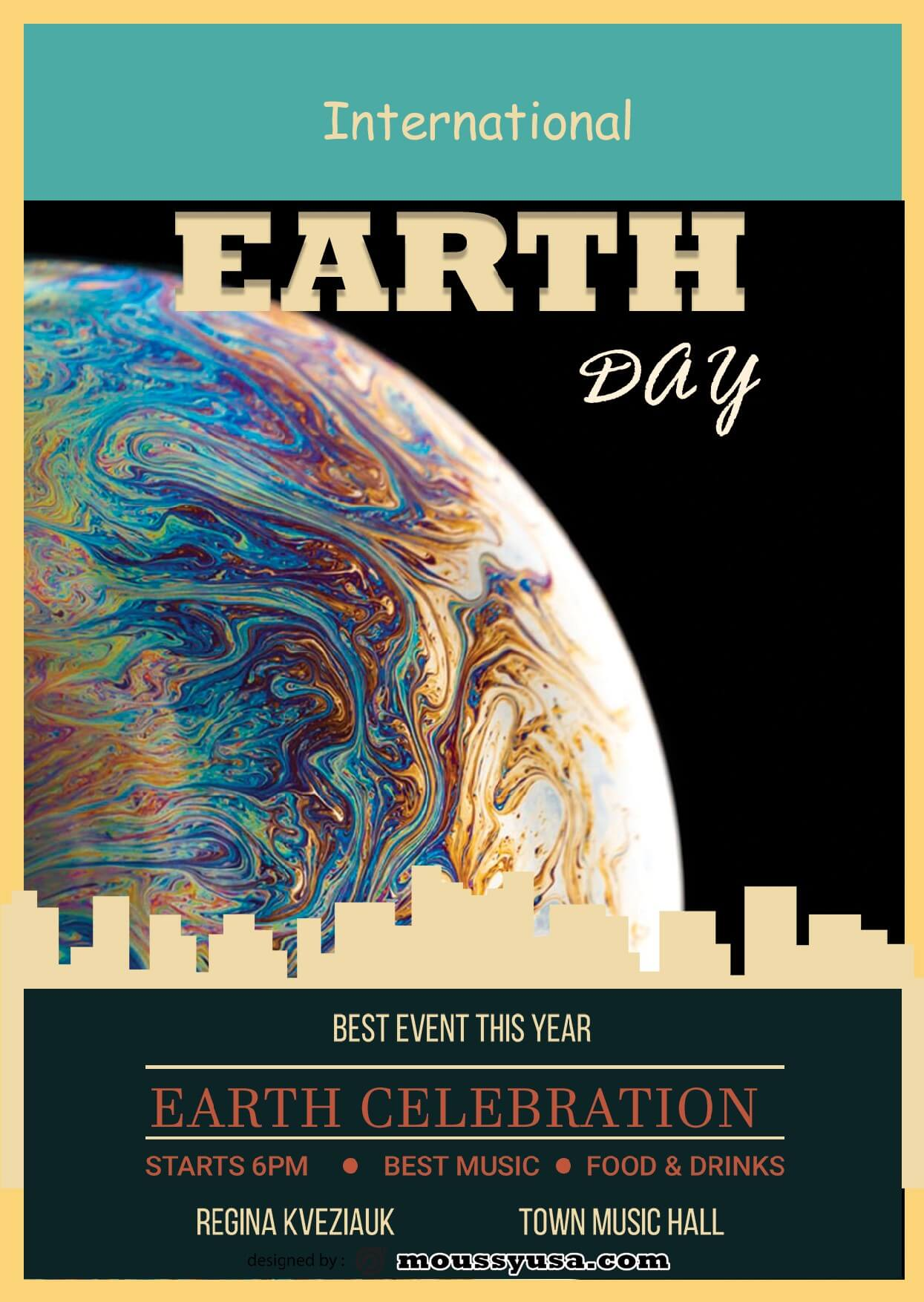 international earth day flayer template ideas