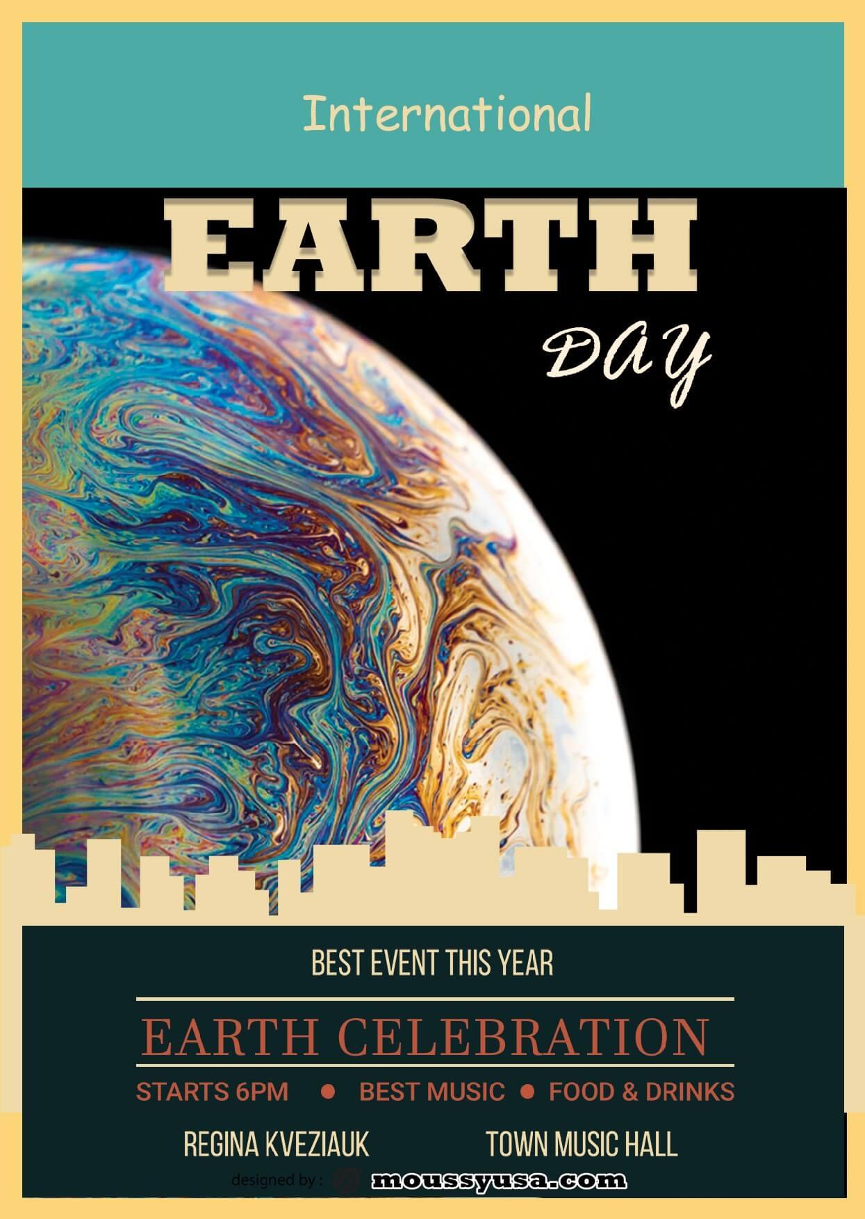 international earth day flayer template ideas