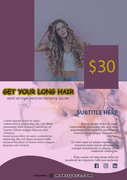 psd Beauty Parlor Flyer template