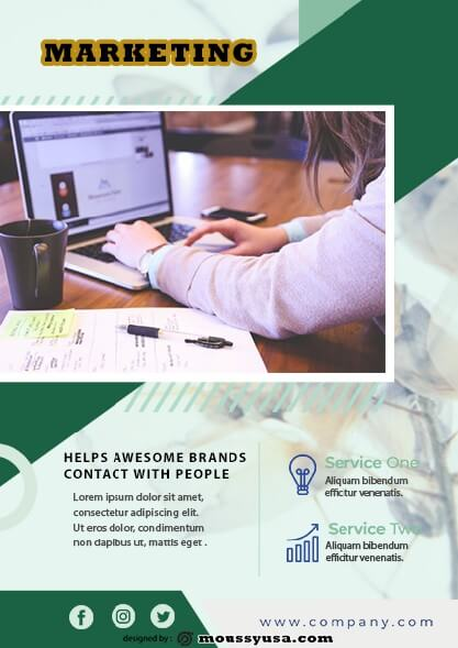 psd Marketing Flyer template