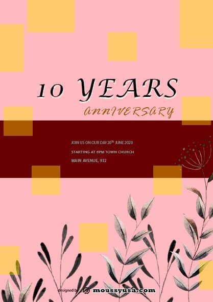 psd template for Anniversary Flyer
