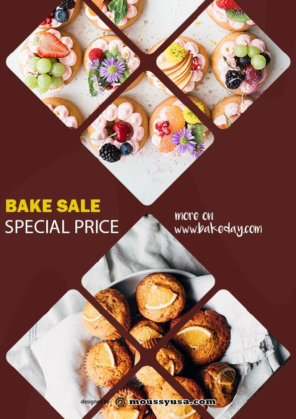 psd template for bake sale flyer